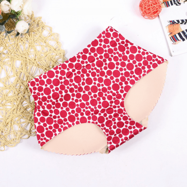 Chilot cu fese push-up DOTS Red (2cm)