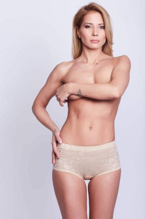 Chilot modelator fese push-up LOVE (2cm)