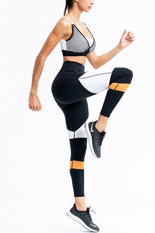 Costum sport doua piese Black Peach