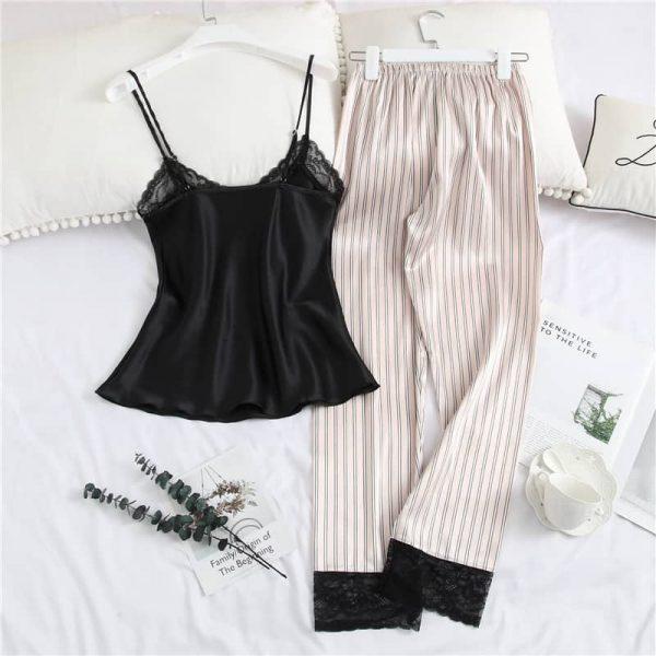 Pijama satinata 2 piese NIGHTWEAR Stripes