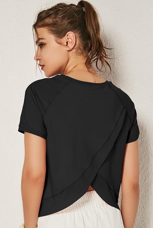 Tricou sport super-soft V-Back Black