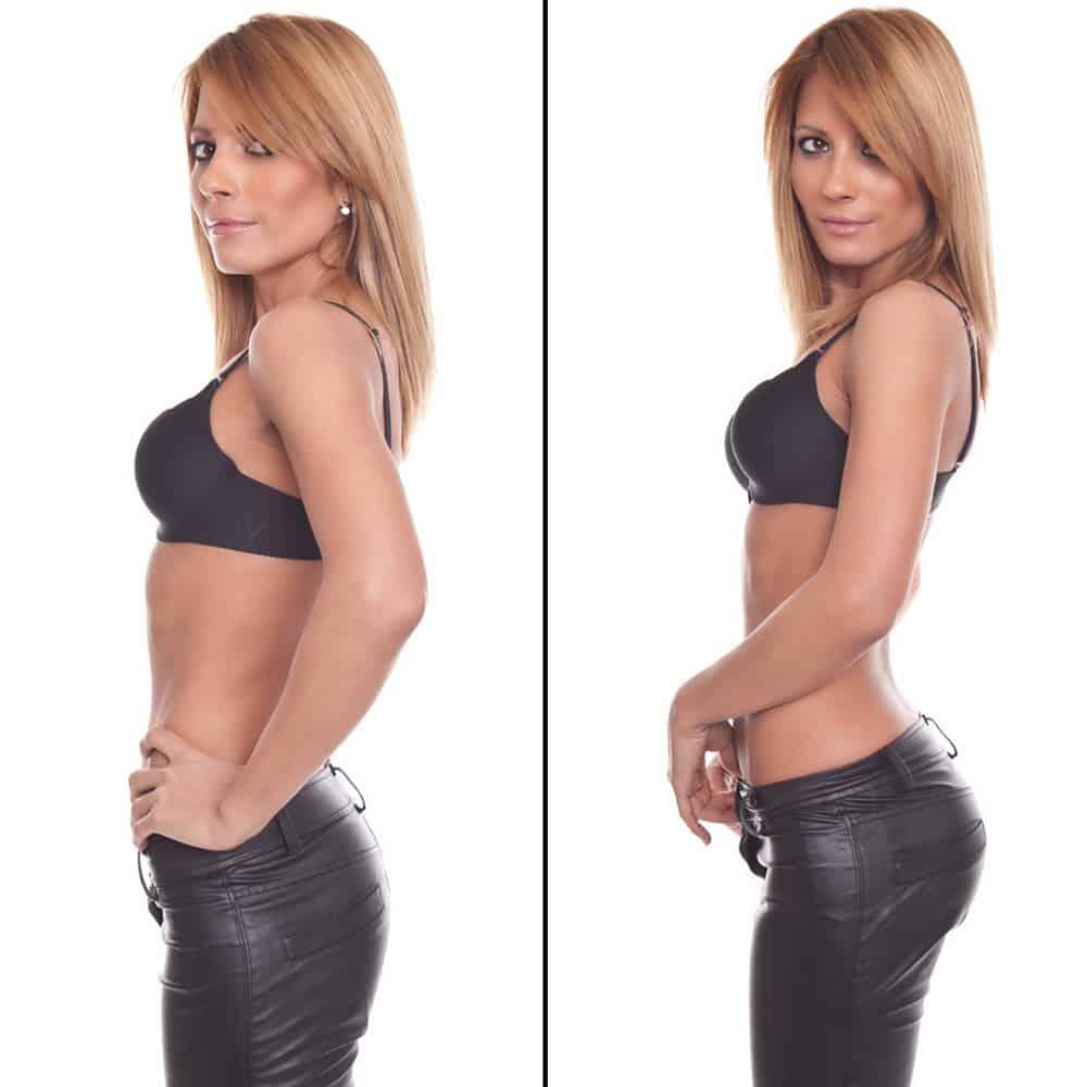 Chilot cu fese push-up BLACK (2cm)